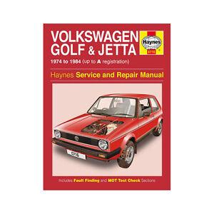 vw golf jetta mk1 1 1 1 3 petrol 1974 84 up to a reg haynes manual rh ebay co uk Golf GTI MK1 MK1 VW Caddy