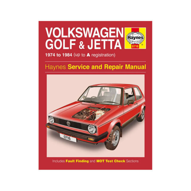 haynes workshop manual 0716 volkswagen vw golf jetta 1974 1984 mk1 rh ebay co uk VW Routan Service Manuals 2013 VW Jetta TDI Service Manual