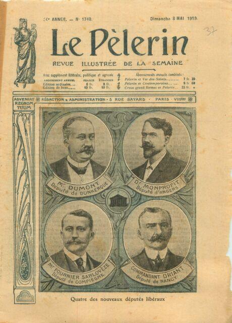 Dr Monprofit/Dumont/Fournier-Sarlovèze/Driant Députés France 1910 ILLUSTRATION