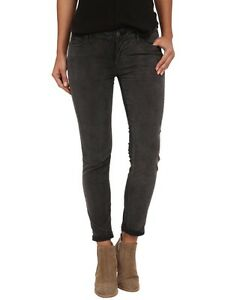 NEW-Free-People-Gray-Skinny-Cropped-Ankle-Corduroys-Jeans-Pants-Size-27