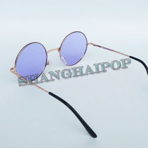 Hippy Rond Lunettes de soleil John Lennon Sunnies metal color lens Vintage Rétro Années 60
