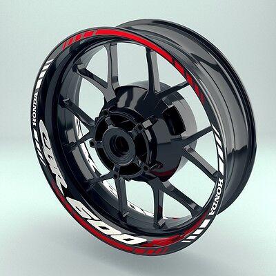 Adaptable Felgenaufkleber Felgenrandaufkleber Wheelsticker Motorrad Honda Cbr600rr Set