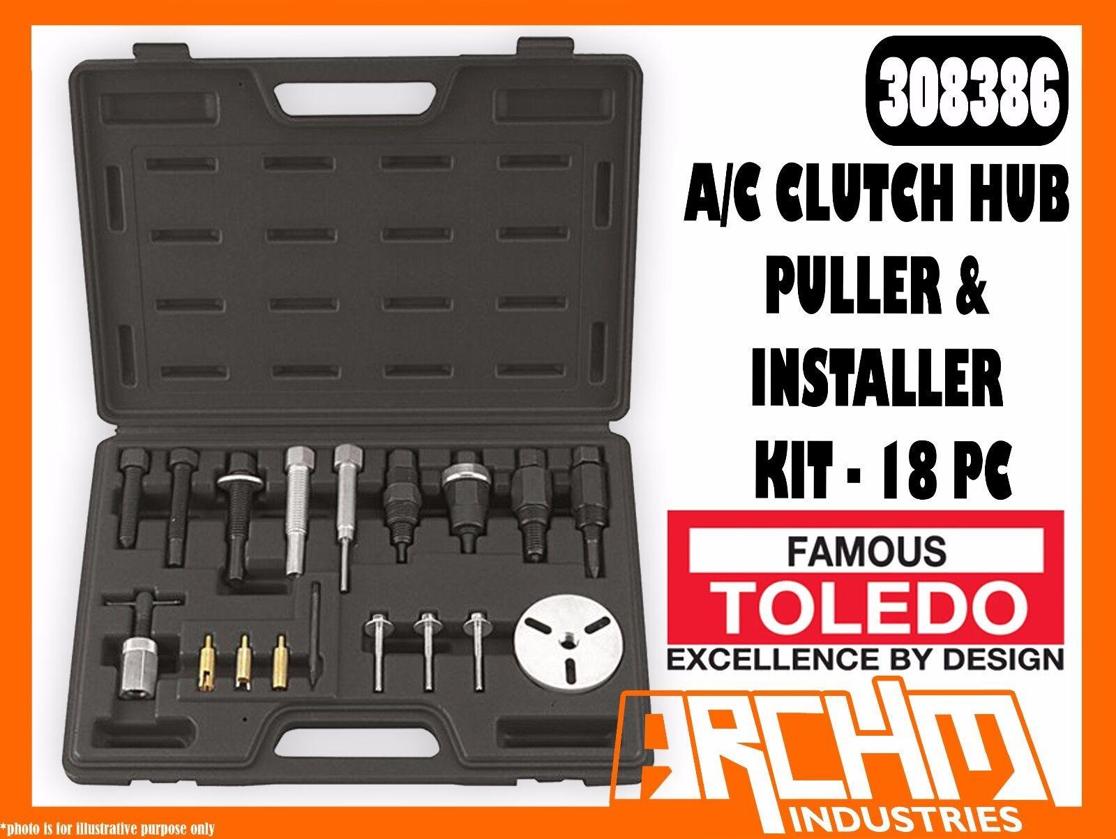 TOLEDO 308386 - A C CLUTCH HUB PULLER & INSTALLER KIT - 18 PC - FLANGE SCREWS