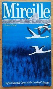 Mireille programme English National Opera ENO 1983 Valerie Masterson Linda Rands