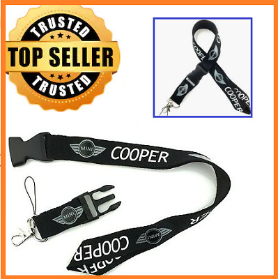 New BMW Black bmw Lanyard X2 Neck Strap Keyring Pass Mobile