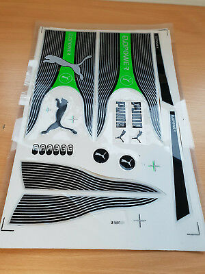 3d Embossed Puma Evo Power Green Cricket Bat Sticker One 2d Sticker Free Ebay
