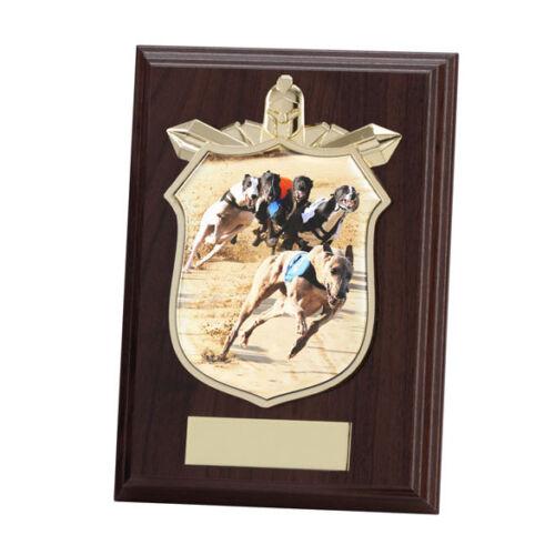 125mm PL15119B Greyhound Racing Wooden Shield Trophy FREE Engraving