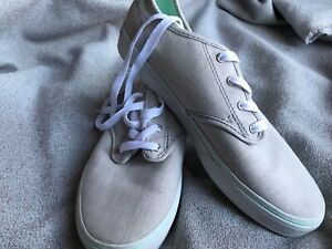 VANS Off The Wall Gray and Mint Green