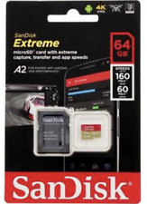 SanDisk Extreme 64 GB Class 10 MicroSDXC Memory Card with SD Adapter - (SDSQXAF-064G-GN6MA)