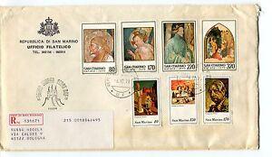 1979 Fdc San Marino Natale Sacra Famiglia Dechirico Raccomandata First Day Cover
