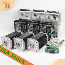 3PCS Nema34stepper motor 1090OZ-IN(7.7N.m) 5.6A 14mm shaft wantai motor US FREE