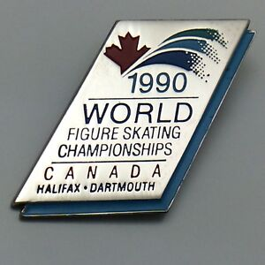 1990-World-Figure-Skating-Championship-Halifax-Souvenir-Pin-E319