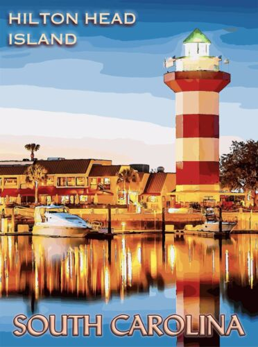 Hilton Head Island South Carolina United States Travel Advertisement Poster