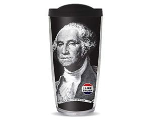 Washington I Like Trump Button With Black Lid 16 ounce Acrylic Travel Tumbler