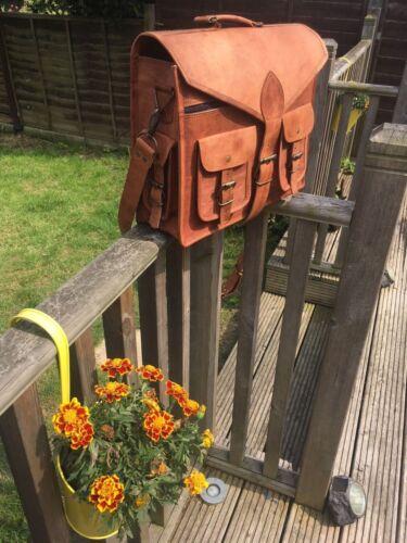 Bag Leather Style Men Shoulder Handbag Bags Business Messenger New Brown