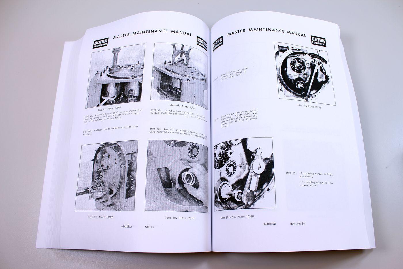 Clark C500 35 Manual Gcx25 Wiring Diagram 1993 Service Array H40 H45 Forklift Repair Shop C500h40 Rh Ebay Com