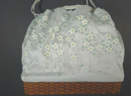 Beautiful Vintage Silk Hand Painted Cloth & Bamboo
