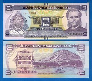 Honduras P-99 10 Lempiras Year 2012 Uncirculated Banknote