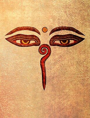 A1 SIZE BUDDAH EYES ALL SEEING WISDOM ENLIGHTENMENT THIRD ARTWORK PRINT POSTER