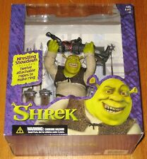 Shrek - Wrestlin' Shrek with 12 Ropes & Ring - Mcfarlane Toys - #20202-1 - NIB