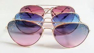 Aviator-Sunglasses-Colored-Lenses-Rhinestones-Fashion-Bling