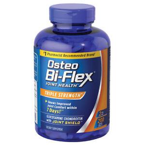 2-x-Osteo-Bi-Flex-Triple-Strength-200-Caplet-5-Loxin-Glucosamine-MSM-400-Total