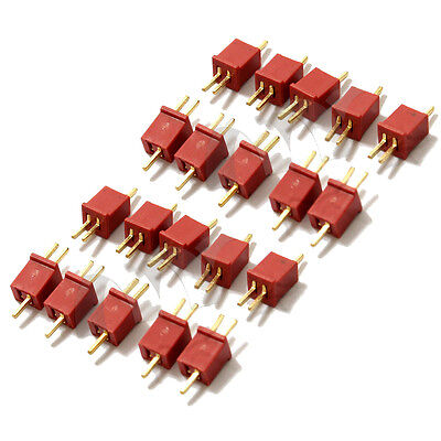 10 Pairs Mini T Plug Connectors Adapters for RC LiPo NiMh Battery