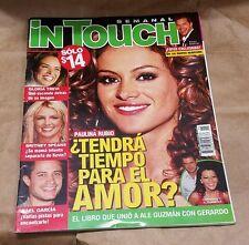 iN Touch Semanal Mexico Paulina Rubio Ricky Martin Britney Spears Gloria Trevi