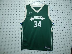 best service 74693 2832d Details about Nike Dri-Fit Milwaukee Bucks Jersey - ANTETOKOUNMPO #34 -  size yOUTH XL