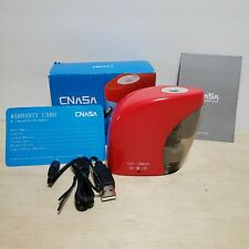 New Electric Pencil Sharpener Automatic Battery Or Usb Powered Red Tested Works