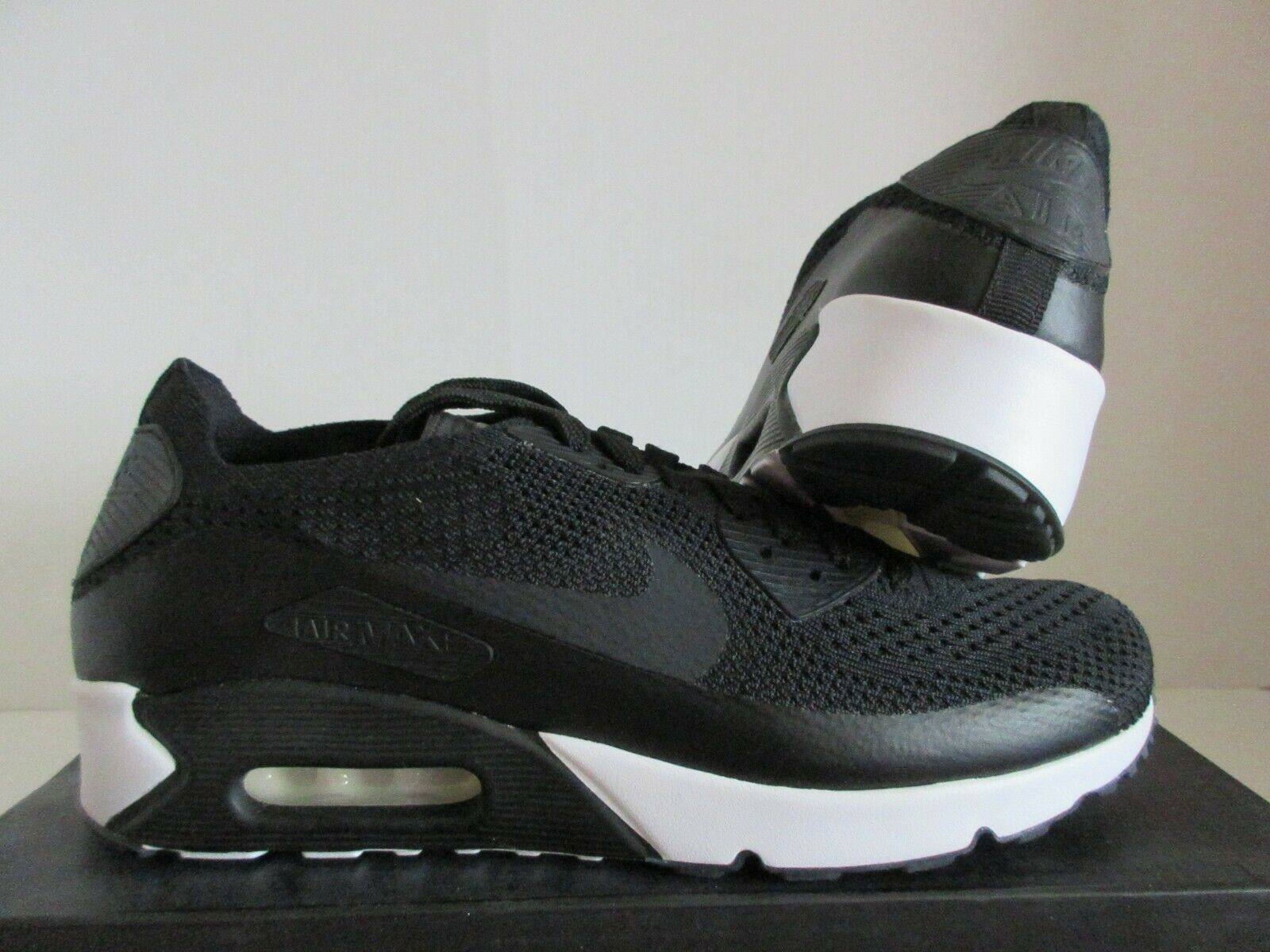 Size 10 - Nike Air Max 90 Ultra 2.0 Flyknit Black 2017 for sale ...