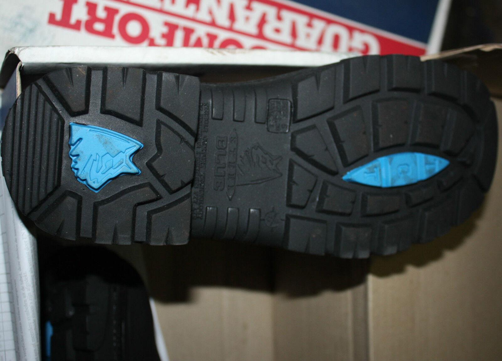 STEEL STEEL STEEL BLUE 312101 HOBART BLACK SIZE 5  EURO 38  A 6 STEEL CAP WORK BOOTS 85f5bf