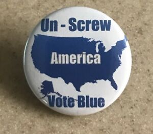 Blue Wave 2020 Democratic pin back button 2 1//4 in.Ships Free