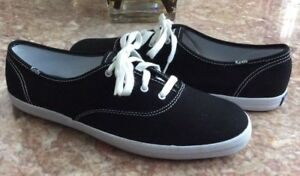 779fd383ce3e74 New Keds Champion Women s Oxford Black White Canvas Sneaker Shoes Sz ...