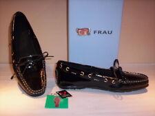 Scarpe basse mocassini Frau donna shoes women casual pelle vernice neri nuovi 36