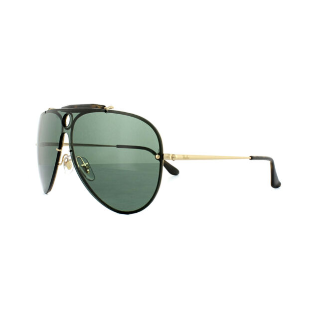 Ray-Ban Sunglasses Blaze Shooter 3581N 001/71 Gold Green