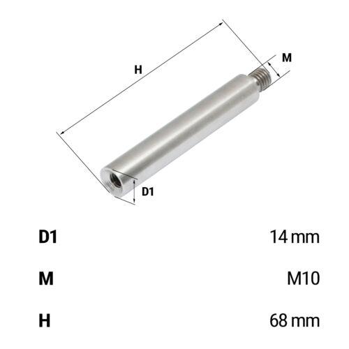 Handlaufträger Rohrstütze Rohrkappe Verbindungsstift Edelstahl Stabhalter Kugel