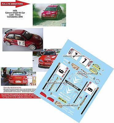 DECALS 1//24 REF 426 CITROEN SAXO KIT CAR SEBASTIEN LOEB RALLYE ALSACE 1998 RALLY