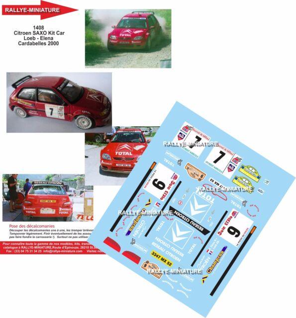 DECALS 1//24 REF 1932 CITROEN DS3 WRC SEBASTIEN LOEB RALLYE EPERNAY 2015 RALLY