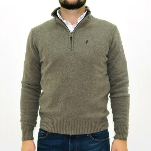 Maglione collo alto uomo MARLBORO CLASSICS lupo zip lana beige 4760
