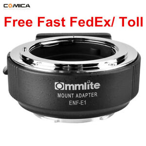 Commlite-CM-ENF-E1-PRO-AF-Adapter-For-Nikon-F-Lens-To-Sony-E-Mount-A9-A7II-A7RII