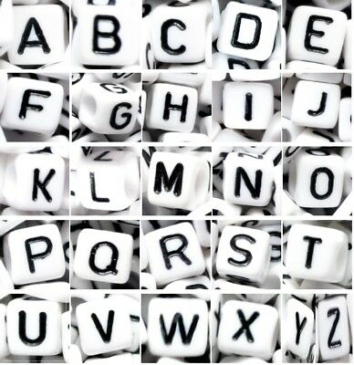 mixed /& individual A B..Z cube 6 mm AAA silver acrylic alphabet letter beads
