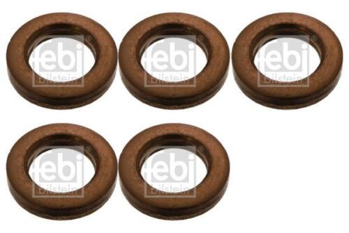 5x Fuel Injector Seal for VW CARAVELLE 2.5 95-03 T4 TDI ACV AHY AJT Diesel Febi