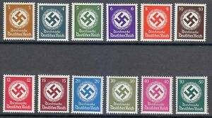 Germany 1942-1944 MNH Mi 166-177 Sc O92-O103 Swastika OFFICIAL STAMPS **