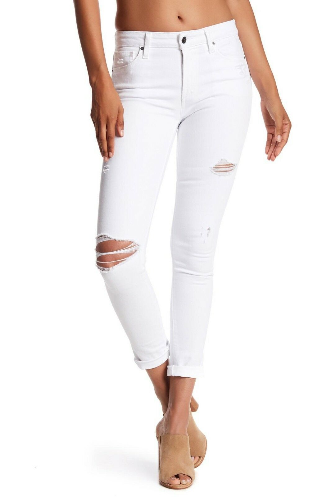 Joe's Jeans Rolled Crop Denim Pants Azami White 26 28 29 30 32 Nwt  172