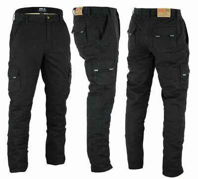 Black Cargo, W46 - L30 Men/'s Motorbike Motorcycle Protective Lining Biker Black Cargo Reinforced Padded Armour Jean Trouser Pant With Free Padding 30 to 48 waist