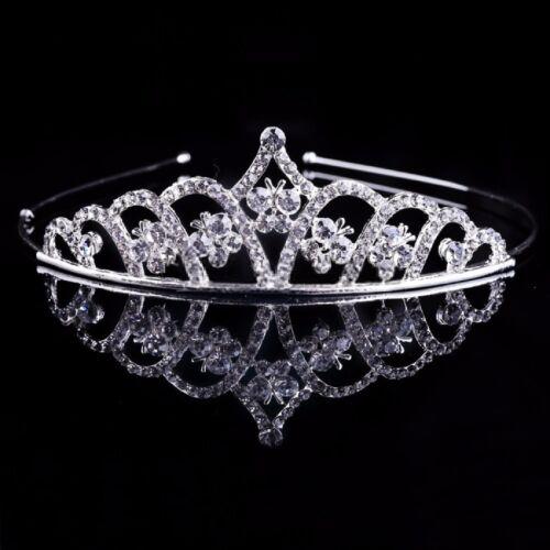 Tiara Diadem Haarschmuck Kopfschmuck Braut Strass Hochzeit Kranz Krone Perlen
