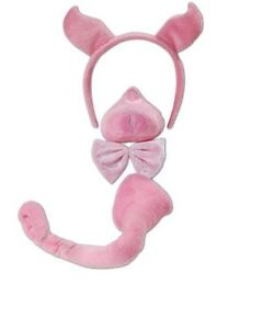 Pink-pig-ears-tail-and-nose-with-sound-farmyard-animal-piggy-costume-accessories