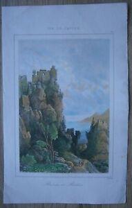 1853 print Ruins and Rocks, Cyprus (#24)