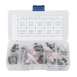 200pcs-10-Values-NPN-PNP-Power-Transistor-Assortment-Kit-W-Box-BC337-BC547-Etc